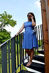 - Jemno-denimové šaty s loli nádychom - 7004158_