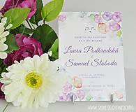 Papiernictvo - Tlačené svadobné oznámenie Vodou maľované - 7008353_