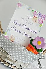 Papiernictvo - Tlačené svadobné oznámenie Vodou maľované - 7008354_