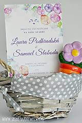 Papiernictvo - Tlačené svadobné oznámenie Vodou maľované - 7008355_