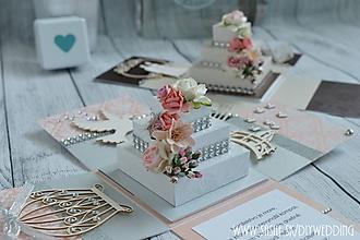 Papiernictvo - Svadobná krabička na peniaze - 7008442_