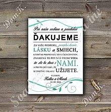 Papiernictvo - Ďakovná kartička na svadbu s listami - 7007759_