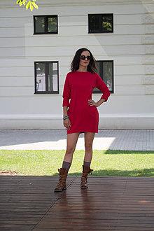 Šaty - jesenné červené - 7006903_