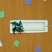 Papiernictvo - Ozdobné menovky na darček  (veterník) - 7006995_