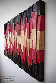 Dekorácie - Drevený obraz-dekorácia na stenu-abstract - 7010560_