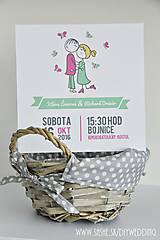 Papiernictvo - Tlačené svadobné oznámenie My dvaja - 7009513_