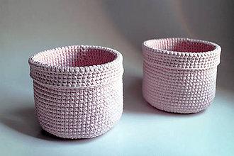 Košíky - Košík - Ružový pastelový svetlý - 7010485_