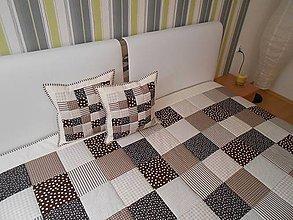 Úžitkový textil - prehoz na posteľ 140x200cm čokoládovo - smotanový  - 7010275_