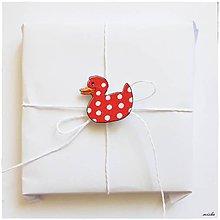 Papiernictvo - Visačky na darček - kačičky - 7009068_