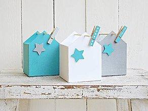 Dekorácie - Domčekové krabičky - 7008933_