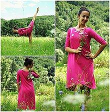Šaty - BAMBOO šaty cyklámové - 7009456_