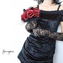 Šaty - Spoločenské gotické šaty - 7008883_