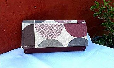Peňaženky - Peňaženka na 12 kariet,koženka+bavlna - 7009014_