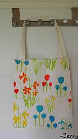 Veľké tašky - Jemná kvietkovaná taška - 7010887_
