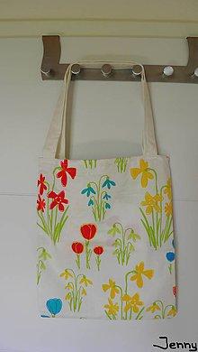 Veľké tašky - Jemná kvietkovaná taška - 7010885_