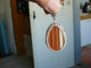 Náhrdelníky - Náhrdenlník jaspis pasikavy. - 7008927_