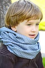 Detské doplnky - vzdušná šatka denim bavlna - 7011119_