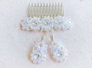 Sady šperkov - Svadobný šujtášový set - 7009828_