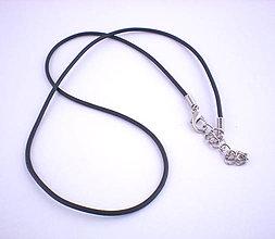 Komponenty - Koženkový náhrdelník 43cm - 7009861_