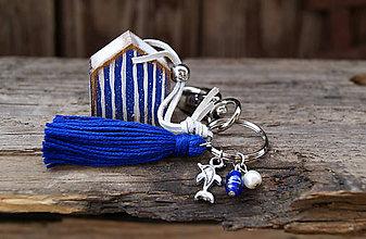 Kľúčenky - Plážový domček na tašku alebo kľúče 2 - 7009495_