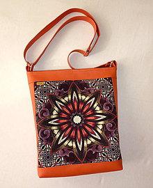 Kabelky - Taška - Mandala oranžová. - 7008990_