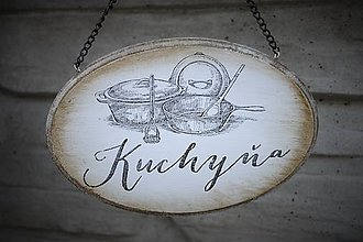Tabuľky - Závesná tabuľka na dvere - kuchyňa - 7010391_