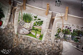 Úžitkový textil - Vrecúško na byllinky No.10 - 7012931_