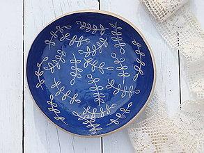 Nádoby - Keramická miska modrotlačová II - 7013278_