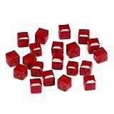 Korálky - Crystal 5601 - RED 8x8mm - 7012643_