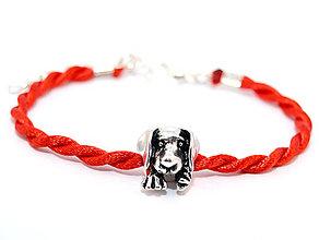 Náramky - kabbalah náramok so psíkom - 7013643_