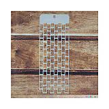 - Šablóna 4,9x13cm Malá tehlová stena - 7012612_