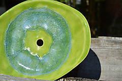 Nádoby - mydelnička zelená II a pohárik na zubné kefky - 7011792_