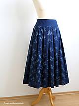 Sukne - set z modrotlače: skladaná sukňa a motýlik - 7011997_