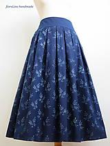 Sukne - set z modrotlače: skladaná sukňa a motýlik - 7011998_