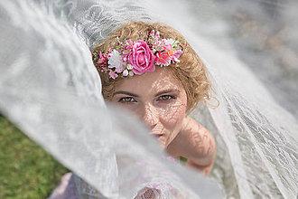 Ozdoby do vlasov - Kvetinový štvrťvenček