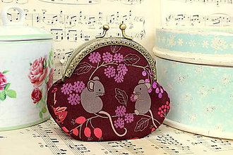 Peňaženky - Minitaštička Podzimní myšky - 7012551_