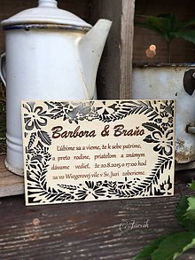 Papiernictvo - Natur svadobné oznámenie - 7012577_