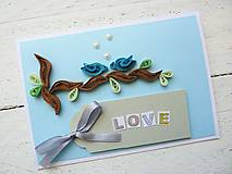 Papiernictvo - svadobná pohľadnica - 7014053_