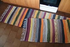 Úžitkový textil - Tkaný dlhý pestrý koberec - 7012026_