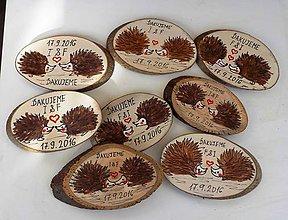 Darčeky pre svadobčanov - svadobné magnetky-ježkovia - 7015271_