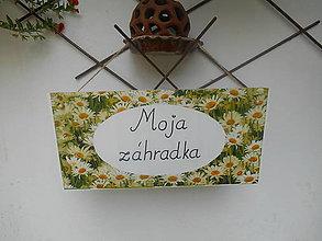 Tabuľky - Moja záhradka - 7014441_