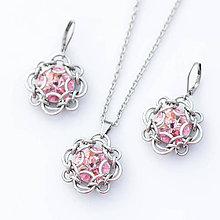 Sady šperkov - Elisabeth souprava - swarovski (světle růžová) - 7015134_