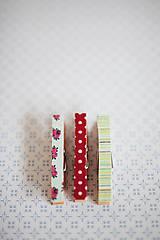 Dekorácie - Ozdobné štipce - vintage ružičky - 7015487_