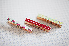 Dekorácie - Ozdobné štipce - vintage ružičky - 7015489_
