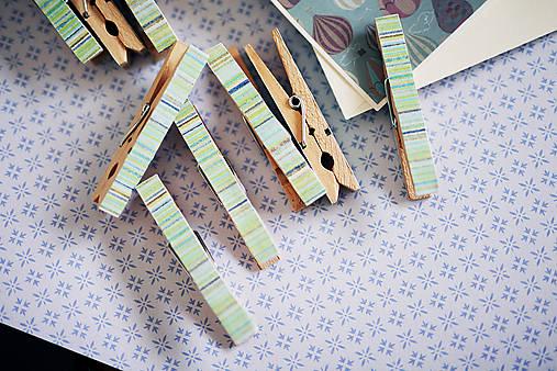 Ozdobné štipce - pásiky