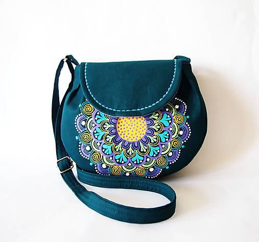 Malá zelená kabelka s mandalou   DARTASKA - SAShE.sk - Handmade Kabelky f4bcb7fc9a5