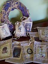 Úžitkový textil - Vrecúška na levanduľu - 7014988_