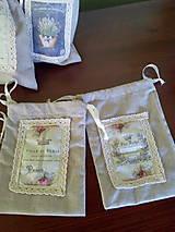 Úžitkový textil - Vrecúška na levanduľu - 7014989_
