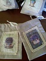 Úžitkový textil - Vrecúška na levanduľu - 7014991_