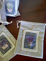 Úžitkový textil - Vrecúška na levanduľu - 7014992_